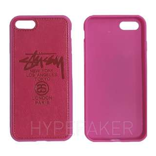 Stussy World Tour Hot Pink Iphone I Phone Plus 7 Case Cases Casing Casings