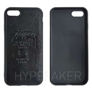 Stussy World Tour Black Faux Leather with TPU Sides Iphone I Phone Plus 7 Case Casing Cases Casings