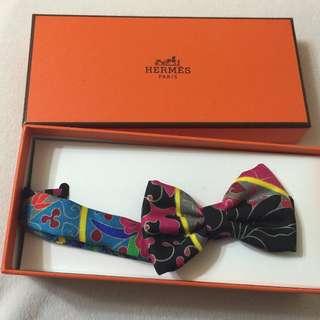 【保證真品】國際知名品牌HERMES絲巾蝴蝶結 領結 包包裝飾