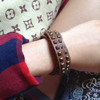 Brown Studded Bracelet