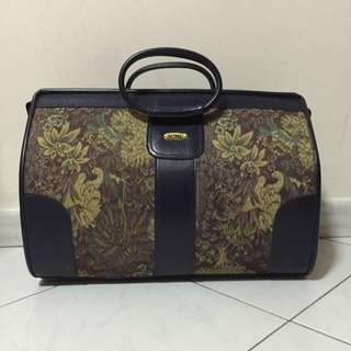 Retro Luggage With Floral Designs