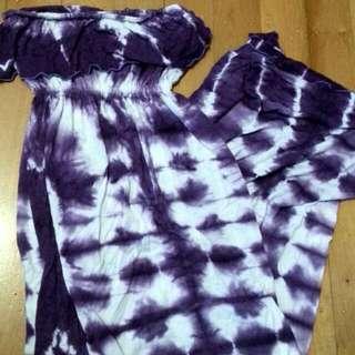 Tye Dye Purple And White Maxi Sleeveless