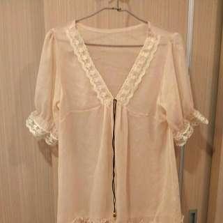 蕾絲薄紗洋裝