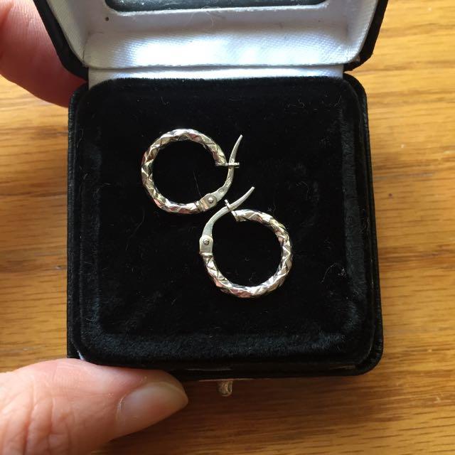 18k金圓圈耳環 (C圈耳環)