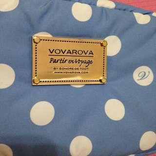 VOVAROVA 藍色圓點化妝包