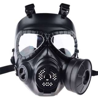 [FREE DELIVERY] Black 1 Sided Canister Gas Mask Halloween Christmas Party Mask