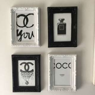 Chanel Set Of 4 Handcrafted Prints