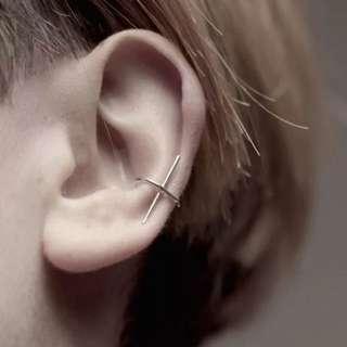 1Pcs Punk style fashion silver metal cuff earrings clip on earrings for women jewelry