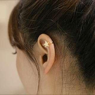 Lovely Gold star ear cuff clip on earrings for women Star mini earring Shijie fashion jewelry