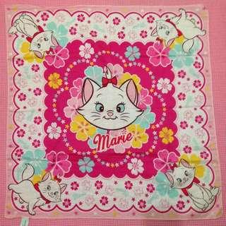 Disney 瑪莉貓大方巾