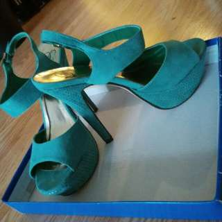 Greenish Teal Heels