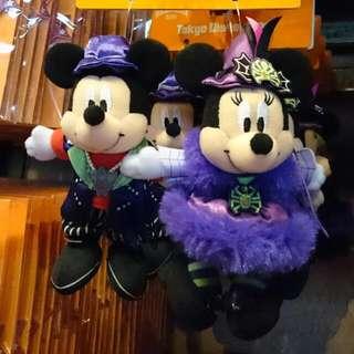 🚚 夏趴。日本東京迪士尼樂園限定【米奇💜米妮】 超可愛 娃娃吊飾