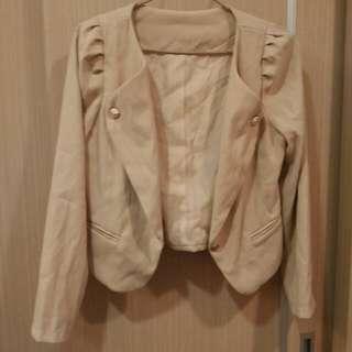 韓版秋冬公主袖小外套