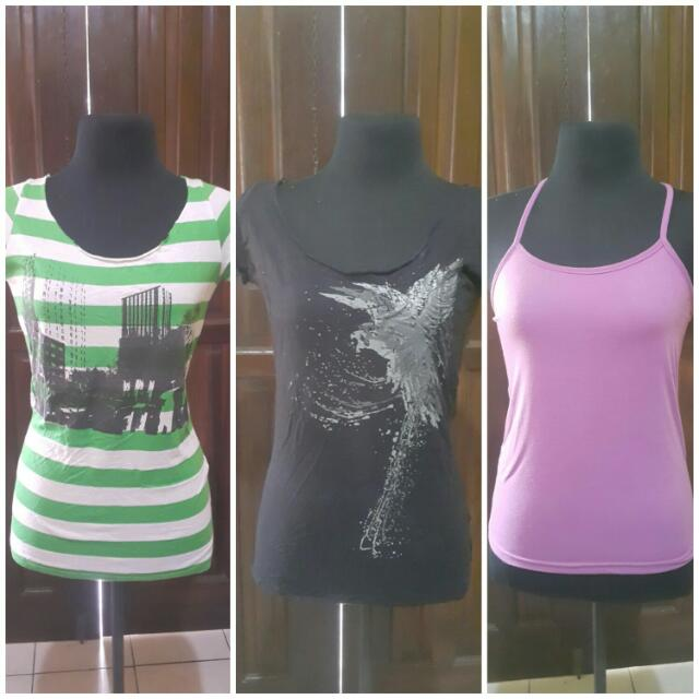 Repriced(3 For 1)F21 Tops and Plain Inner Top