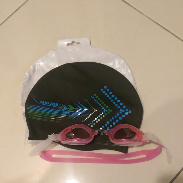 泳帽+蛙鏡(無度數)