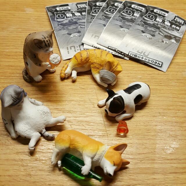 【售完】下班 喝醉動物 喝酒動物 1代+2代(科基,貓咪)
