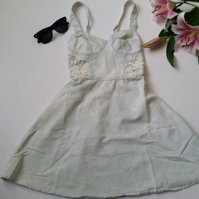 A&F Acid Wash Dress XS