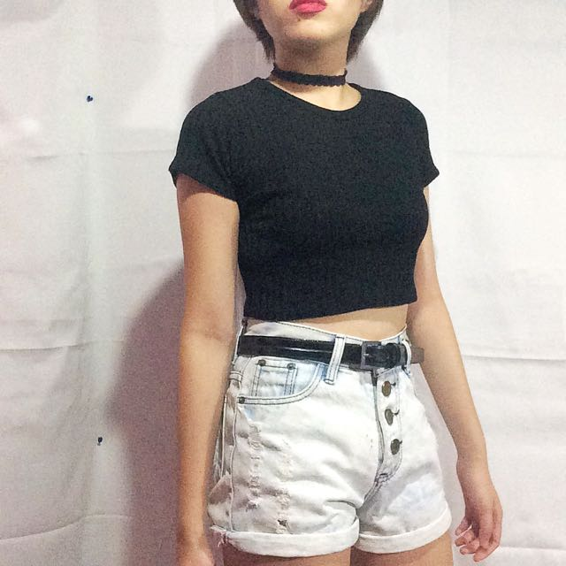 Basic Ribbed Crop Top