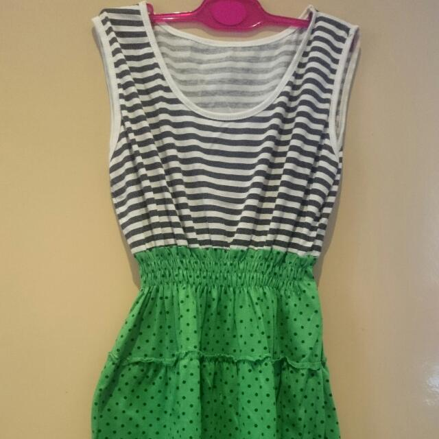 Black and Green Polka Dress