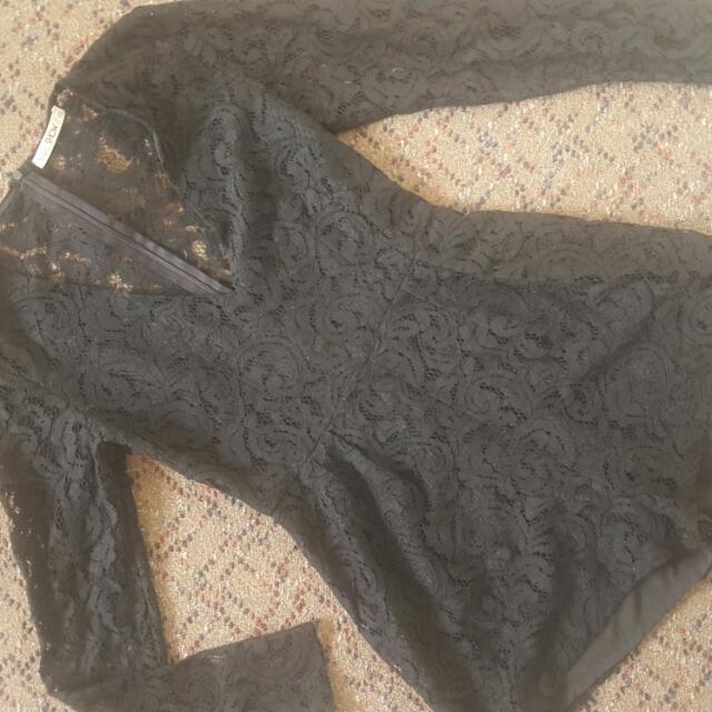 Black Lace Playsuit