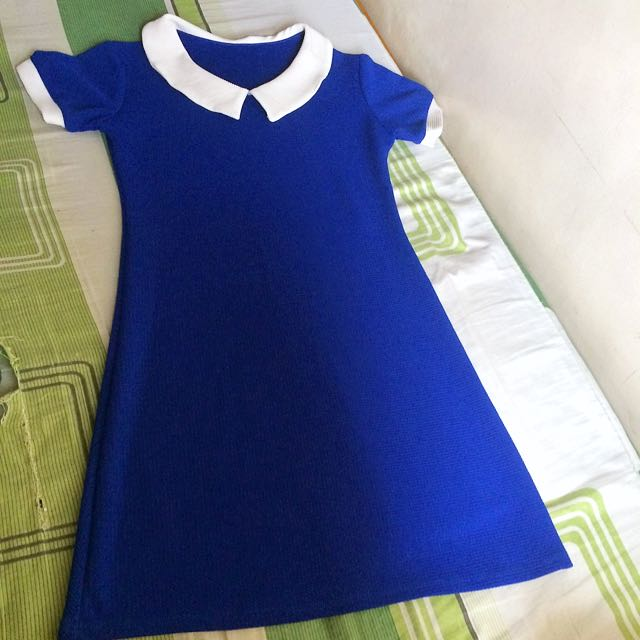 Blue collared dress