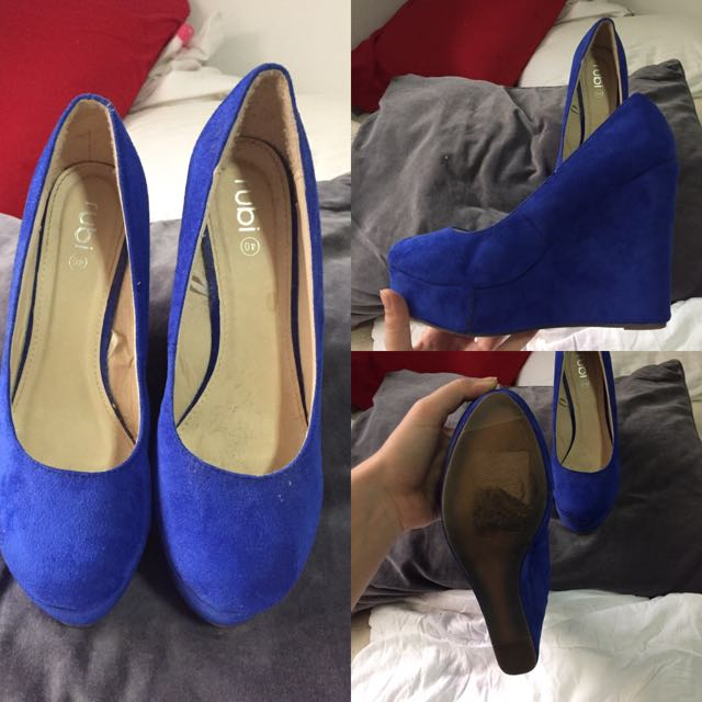 Blue Rude Platform Wedges