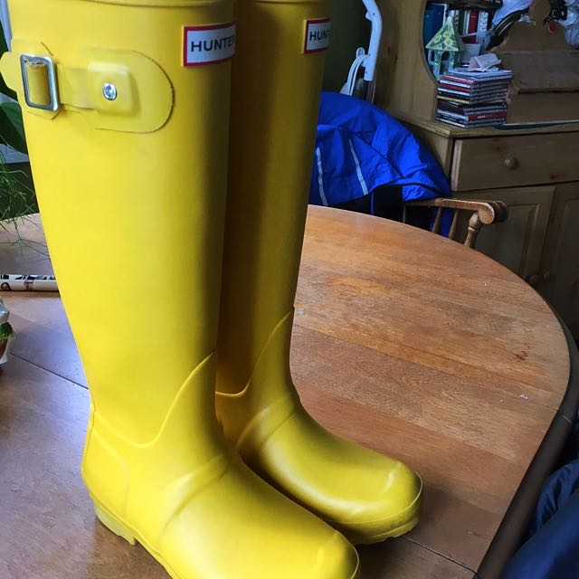 Bright Yellow Hunter Rain Boots