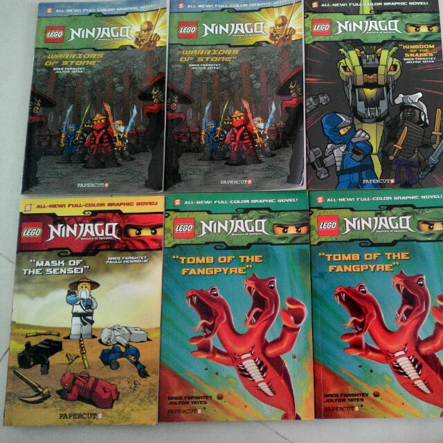 Christmas Sale! 6 Lego Ninjago Comics And 5 Lego Ninjago And Lego Chima  Books(Many Titles Available!)