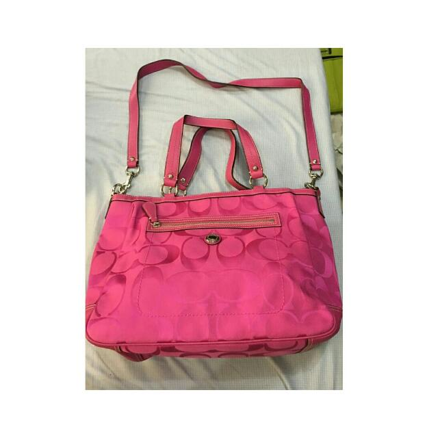 Coach Fuschia Shoulder Bag