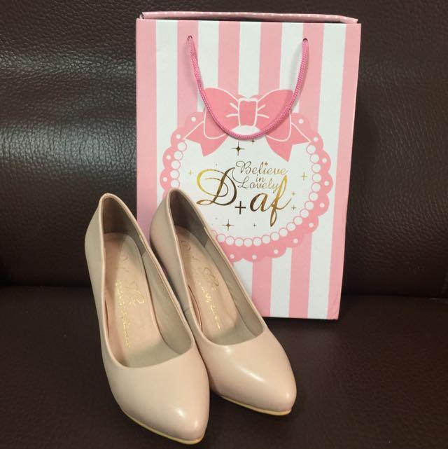 D+af 水晶高跟鞋 粉