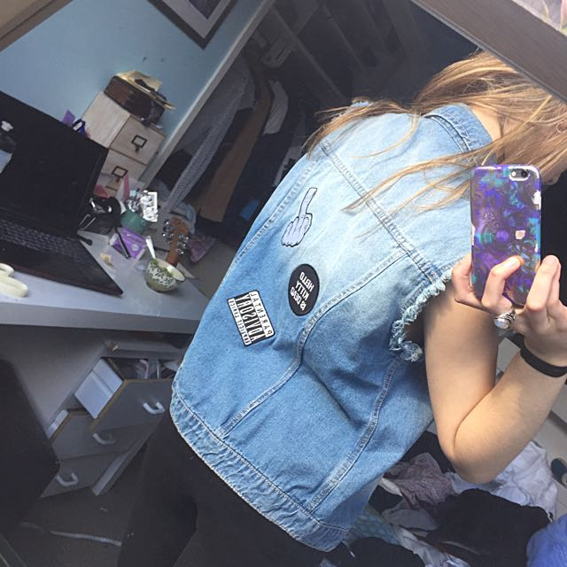 Denim Jacket With Patches