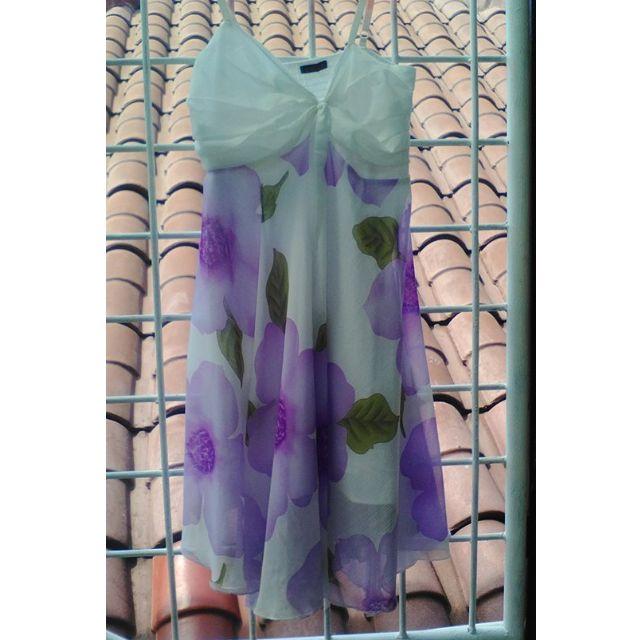 Dress purple flower