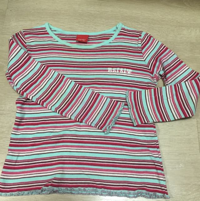 Esprit 條紋純棉上衣