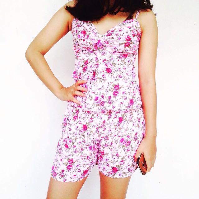 Floral Pink Jumpsuit