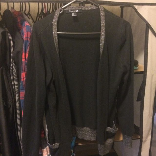 Forever21 Black Gold cardigan