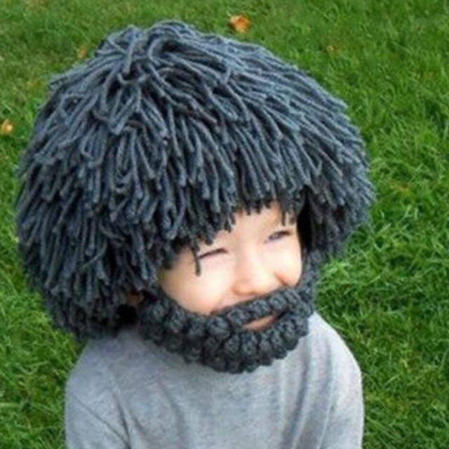 6fe7b9d15a4  FREE DELIVERY  Cute Beard Wig Hobo Mad Scientist Rasta Caveman Handmade  Knit Halloween Christmas Funny Party Mask