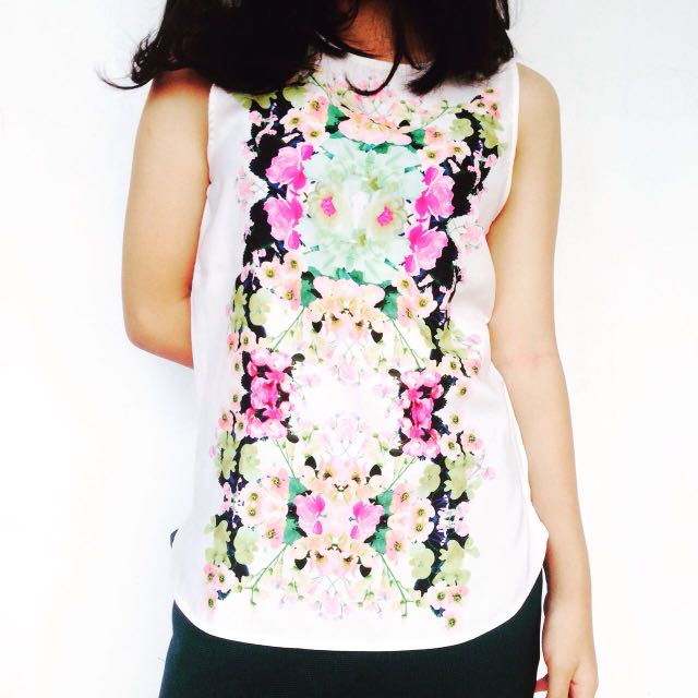 H&M Floral Polyester Top