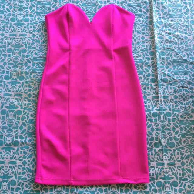 Hot Pink Tube Dress