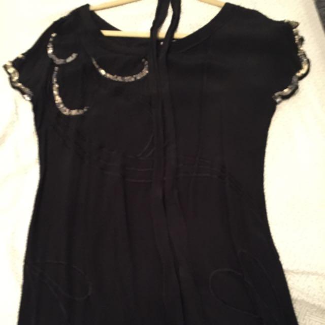 Hussy Embellished Mini Dress 10 Small
