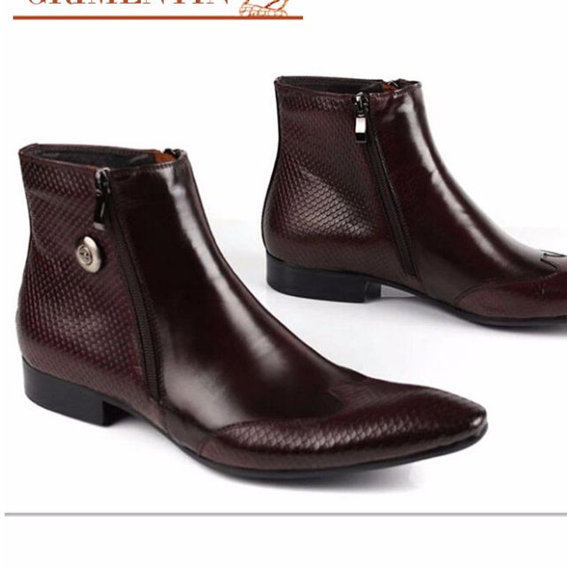 Italian vintage ankle boots genuine leather pointed US 186