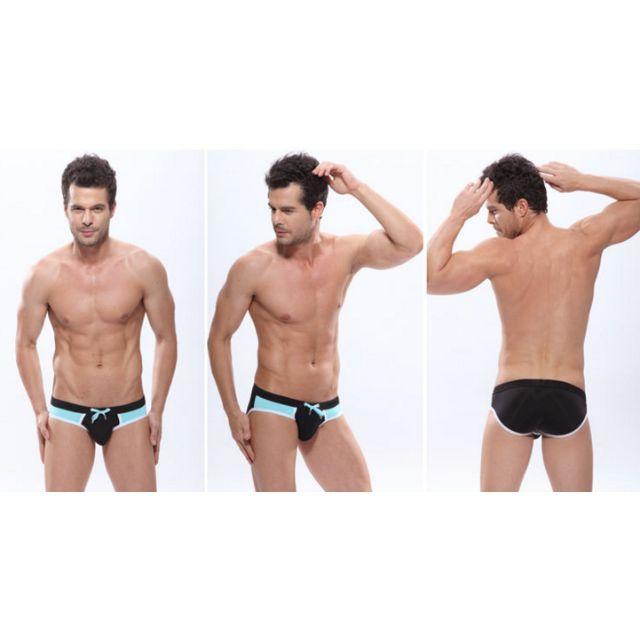 KAMAYO black / aquamarine swimming trunks