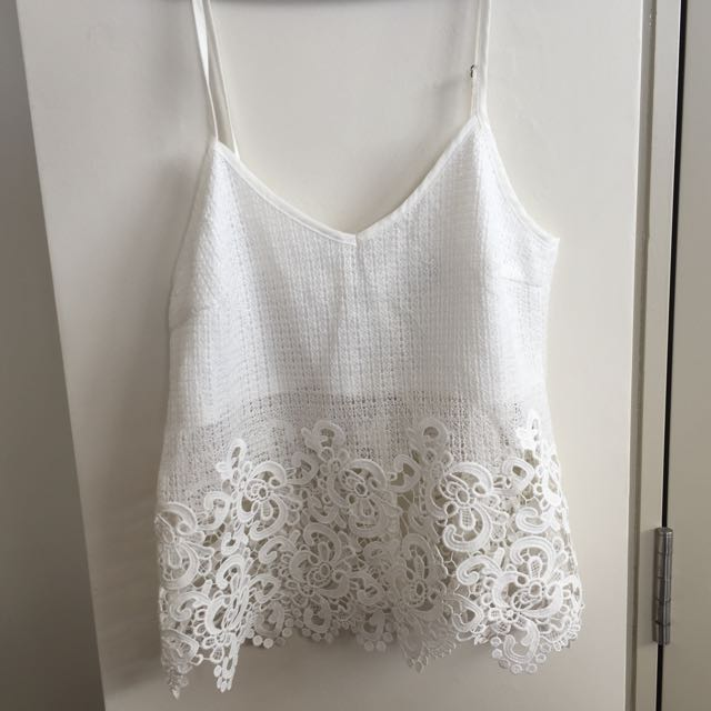 Lace Trimmed Singlet SIZE 8