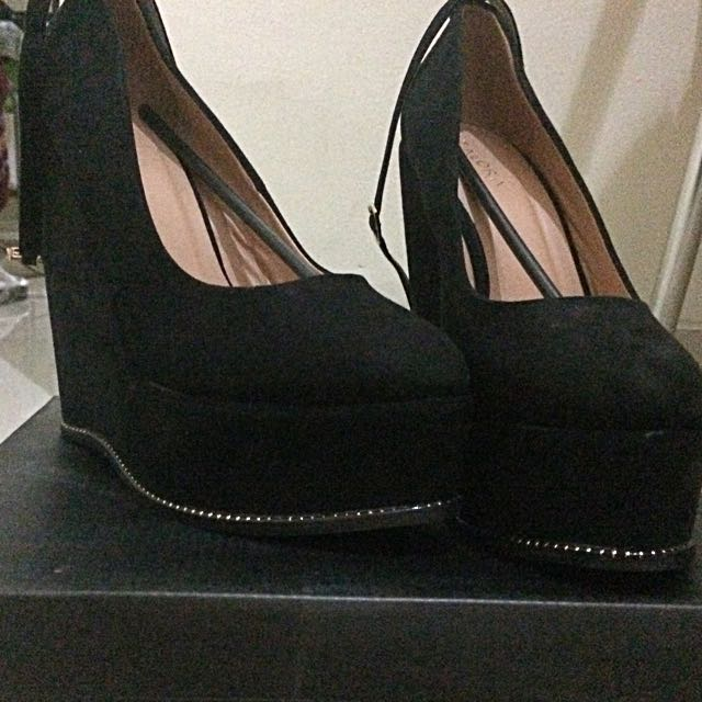 Platform Wedges With Ankle Strip
