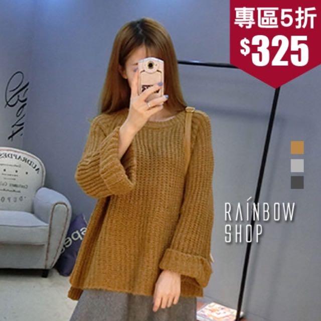 Rainbow Shop寬袖針織毛衣