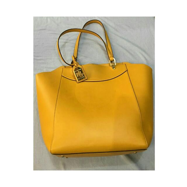 Ralph Lauren Yellow Tote Bag