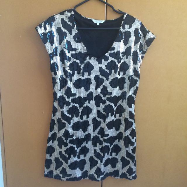 Sequin Dress Animal Print