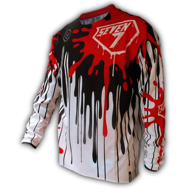 154e08933 Seven7 Design Red Splash MTB Jersey