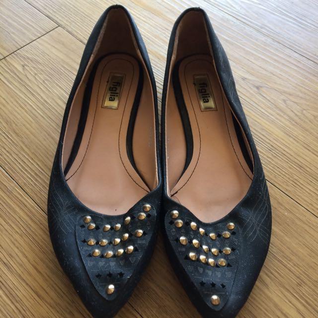 Size 39 Figlia Black Shoes