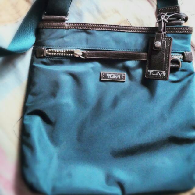 TUMI Leather Shoulder Bag For Women