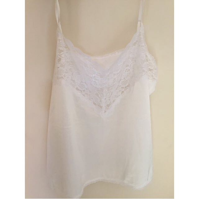vintage silk and lace camisole top